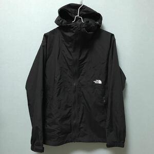 現行モデル ノースフェイス コンパクトジャケット メンズM ブラック 黒 マウンテンパーカ ナイロンジャケット ウィンドブレーカー