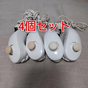 任天堂純正品 Wii ヌンチャク 白 4個