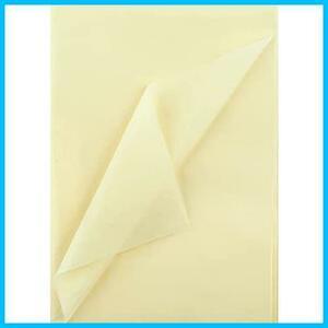 【送料無料-最安】35*50cmクリームイェロー60枚 ラッピングペーパー ペーパーアート プレゼント NALER F2055 薄葉紙 包装紙 手芸用