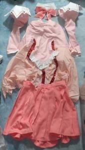 ★★未使用品 ★サークル製 Piaキャロットへようこそ フローラルピンク 一式セット! コスプレ衣装 最大サイズ 女性XXLサイズ★★