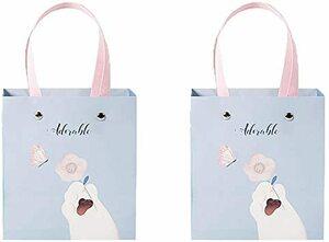 猫S かわいい猫ギフトバッグ クラフト 猫爪仕様ラッピング袋 ねこ紙袋 手提げ袋 プレゼント用 リサイクル可能(S)