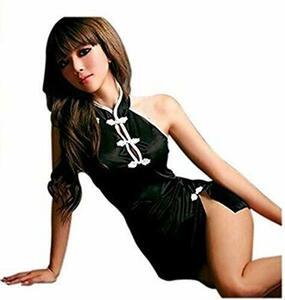 Style-3 チャイナドレス チャイナ服 コスプレ コスチューム レディース 可愛い 黒 ブラック