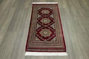 新品 SALE 最高級カーペット パキスタン手織り絨毯 玄関マット アクセントラグ 54x106cm #984
