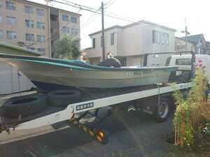 和船 漁船 釣り船 天馬 25馬力 船外機