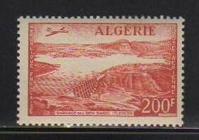 34 アルジェリア【未使用】<「1957 航空切手・飛行機と風景」>