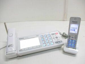♪Panasonic パナソニック おたっくす デジタルコードレス FAX機 KX-PZ720 子機付 KX-FKD556 ホワイト 10178A-2 @80♪