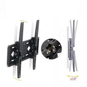 汎用 モニター PC テレビ 壁掛け 金具 26-65インチ対応 角度調節