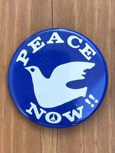 70年代☆ビンテージピンバッチ☆peace NOW☆反戦☆平和の象徴☆バッジ☆ピースマーク#即決☆同梱発送可