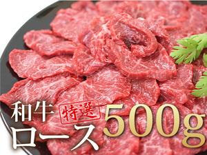 1円【1数】BBQ必勝!黒毛和牛ロース焼肉用500g★4129★訳有
