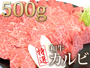 1円【1数】黒毛和牛(カルビ500g)焼肉用★4129★BBQ業務用訳