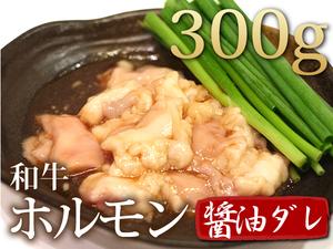 1円【3数】和牛(醤油だれホルモン300g)小腸★4129焼肉訳