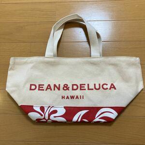 DEAN&DELUCA ハワイ限定 ハイビスカス柄 トートバッグ ディーン&デルーカ エコバッグ 赤