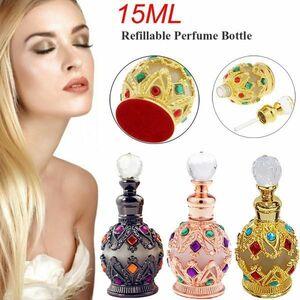 新品 香水瓶 スタイル エッセンシャル ヴィンテ アラブ xiu0393 オイル 15 ボトル 金属 スポイト 容器QU46