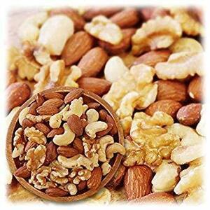 新品ミックスナッツ 3種類 1kg 徳用 生くるみ 40% アーモンド 40% カシューナッツ 20% 素焼き QWP7