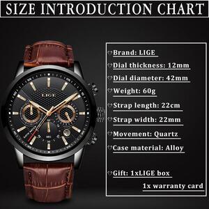 【中古売ります】【最安値に挑戦】Lige 2020新メンズ高級男性ミリタリースポーツ腕時計メンズレザー防水クォーツ腕時計レロジオmasculino