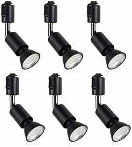 ブラック 電球色-6個入り xydled ダクトレール用スポットライト E11 LED電球付き 50W ライティングバー用器具セ