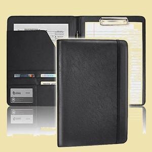 未使用 新品 TENSIK S-BR 贈り物 ブラック A4 二つ折り 高級革 クリップボ-ド クリップファイル クリップボ-ドフォルダ 多機能