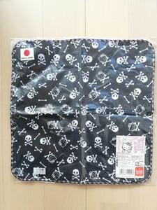 サンリオ ハローキティ スカル 手ぬぐいハンカチ 日本限定販売 日本製 未開封 未使用 レア品 レトロ 1枚オマケつき