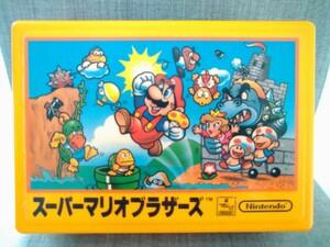 当時物 スーパーマリオブラザーズ柄  ファミコンカセット収納ケース 収納BOX  任天堂