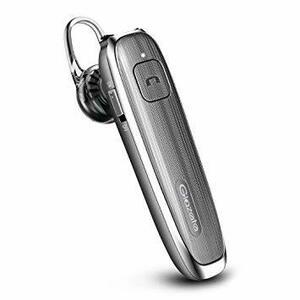 グレー Glazata Bluetooth 日本語音声ヘッドセット 片耳 高音質 ,超大容量バッテリー、長持ちイヤホン、30時間