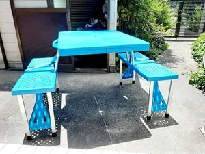 テーブルチェア キャンピング アウトドア 折り畳み 美品