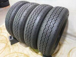 在庫限り 限定 新車外し 即納 車検対応 国産タイヤ ブリヂストン エコピア RD-613 195/80R15 107/105L LT 4本 200系ハイエース キャラバン