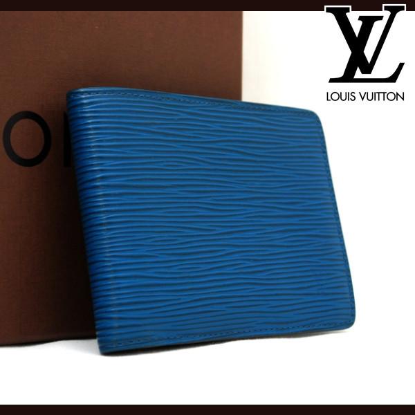 ★極美品★ ルイヴィトン Louis Vuitton エピ ポルトフォイユ ミュルティプル 2つ折り財布 本物 1円 M60629 R21041602