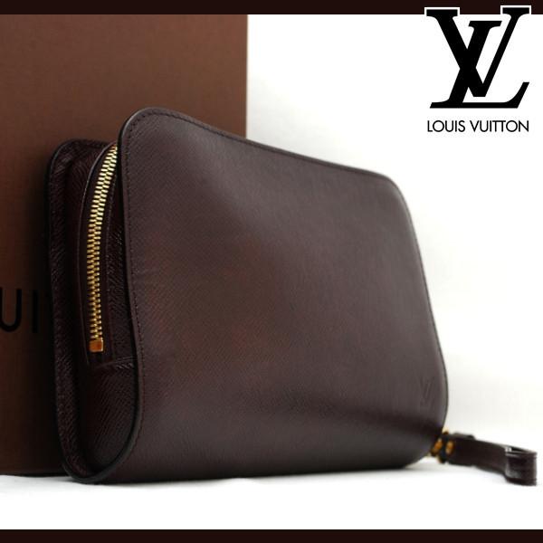 ★極美品★ ルイヴィトン Louis Vuitton タイガ バイカル メンズ クラッチバッグ 1円 M30186 定価約15万 R21101001