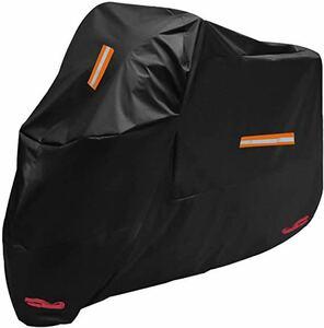バイクカバー 車体カバー 210D 高機能 風飛び防止 防水 防雪 防塵 耐熱 鍵穴盗難防止 収納袋付き XL