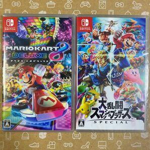 【新品】2本セット Switch マリオカート8 DX 大乱闘 スマブラsp