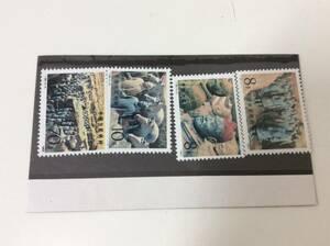 ■5556 中国切手 T88 1983年 兵馬俑 4種完 未使用品 4枚 中国人民郵政 コレクション アンティーク 切手 中華人民共和国 長期保管品