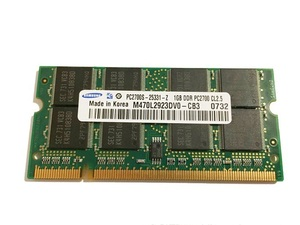 * used operation goods * Note for memory SAMSUNG PC2700S DDR333 1GB * free shipping * the first period guarantee equipped