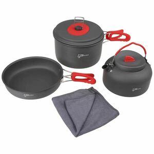 新品 キャンプ調理セット 軽量 コンパクト クッカーセット