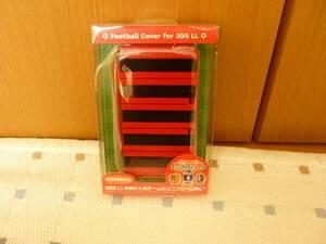 3DSLL専用、FOOTBALL Coverケース、人気のユニフオーム柄に、赤&黒色迷彩、新品クリック185円