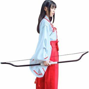 「circle chocolate」巫女 コスチューム コスプレ イベント 巫女装束 桔梗 衣装 白紐 赤袴 赤太
