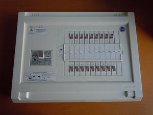 モデルルーム展示使用品 テンパール 住宅用分電盤 ブレーカー 40A GBU-53・1HEC パールテクト漏電ブレーカー