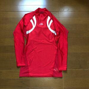 TIGORA ティゴラ アンダーシャツ インナーシャツ 赤 リフレクター 長袖 モック スポーツ GOLF ゴルフ メンズ ロゴ
