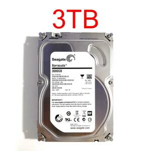 """HDD 3TB 3.5"""" 26mm SATA 6Gbps 正常 Seagate Barracuda ST3000DM001 9YN166-300 3.5インチ ハードディスクドライブ [HDD3S#20.4]"""