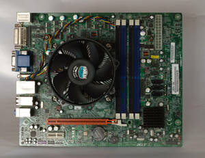 美品/動作確認済み Acer Veriton V490G用 CPUとマザーボードのセット Intel Core i3-550/H57H-AD/CoolerMaster