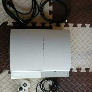 美品 動作確認済 PS3 本体一式 初期型 CECHH00 CW 500GB換装済 セラミックホワイト 白 HDMIケーブル付 即遊べます ★PlayStation3★