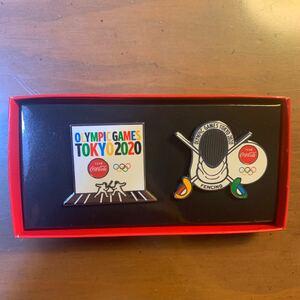 東京オリンピック ピンズ ピンバッチ コカコーラ フェンシング
