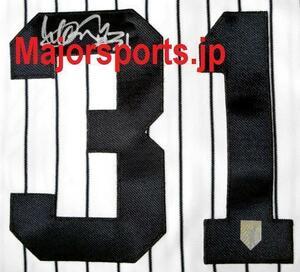 【MS】イチロー直筆サイン#31ヤンキース公式ホームジャージー! ユニフォーム 検)大谷翔平