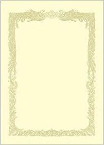 クリーム色 A3 ササガワ タカ印 賞状用紙 OA対応 A3 横書き 100枚 クリーム ケント紙 10-1188
