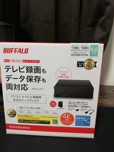 新品未使用 送料無料 BUFFALO 外付けHDD HD-EDS6.0U3-BA