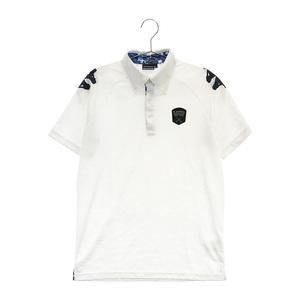 【即決】KAPPA カッパ ボタンダウン 半袖 ポロシャツ カモフラ柄 ホワイト系 L [240001607828] ゴルフウェア メンズ