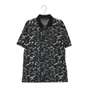 【即決】MUNSING WEAR マンシングウェア 半袖ポロシャツ 迷彩 カモフラ柄 ブラック系 L [240001614817] ゴルフウェア メンズ