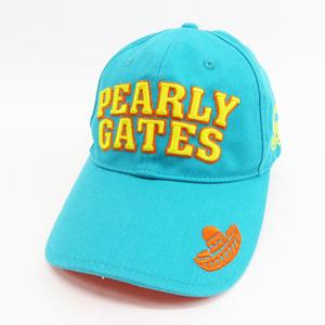 PEARLY GATES パーリーゲイツ キャップ 刺繍 ブルー系 F [240001548566] ゴルフウェア メンズ