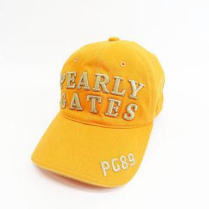 【即決】PEARLY GATES パーリーゲイツ キャップ 刺繍 オレンジ系 M [240001562451] ゴルフウェア メンズ
