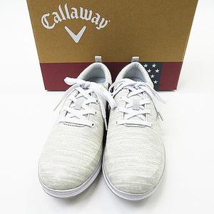 【美品】CALLAWAY キャロウェイ 247-1996800 スパイクレスシューズ ソレイユ グレー系 24.5 [240001574446] ゴルフウェア レディース