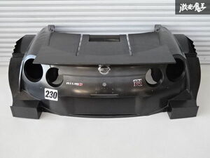 ニスモ R35 GT-R GTR NISMO GT500 リア カウル バンパー ドライカーボン エアロ 230号車 テスト車両外し SUPER GT 手渡し可! 棚2F-H-3